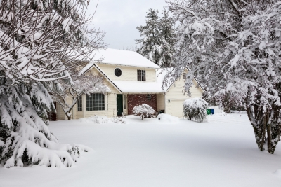 exterior of home with snow