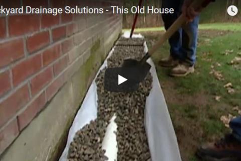improving backyard drainage