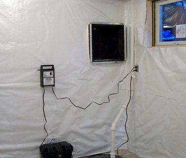 Basement sump pump setup and installation