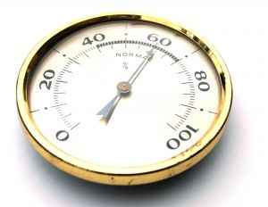 Close-up of Hygrometer