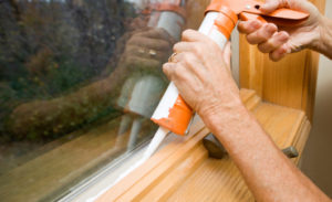 caulking window for winter